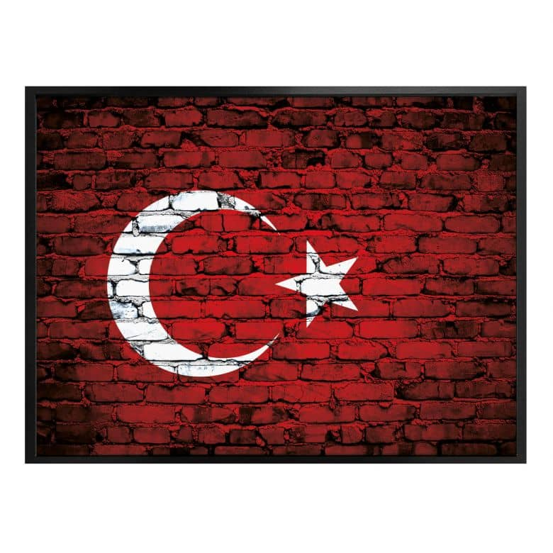 Poster Türkische Flagge