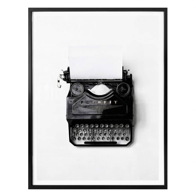 Poster - Macchina da scrivere