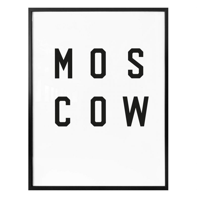 Poster - Typographie Moscow