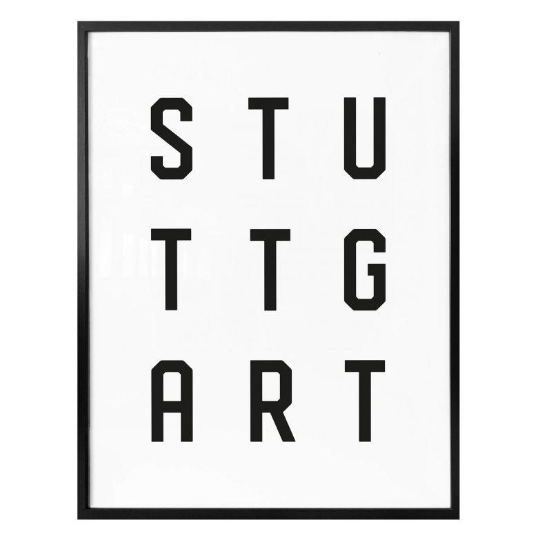 Poster - Typographie Stuttgart