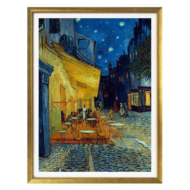 Poster van Gogh - Café-Terrasse am Abend