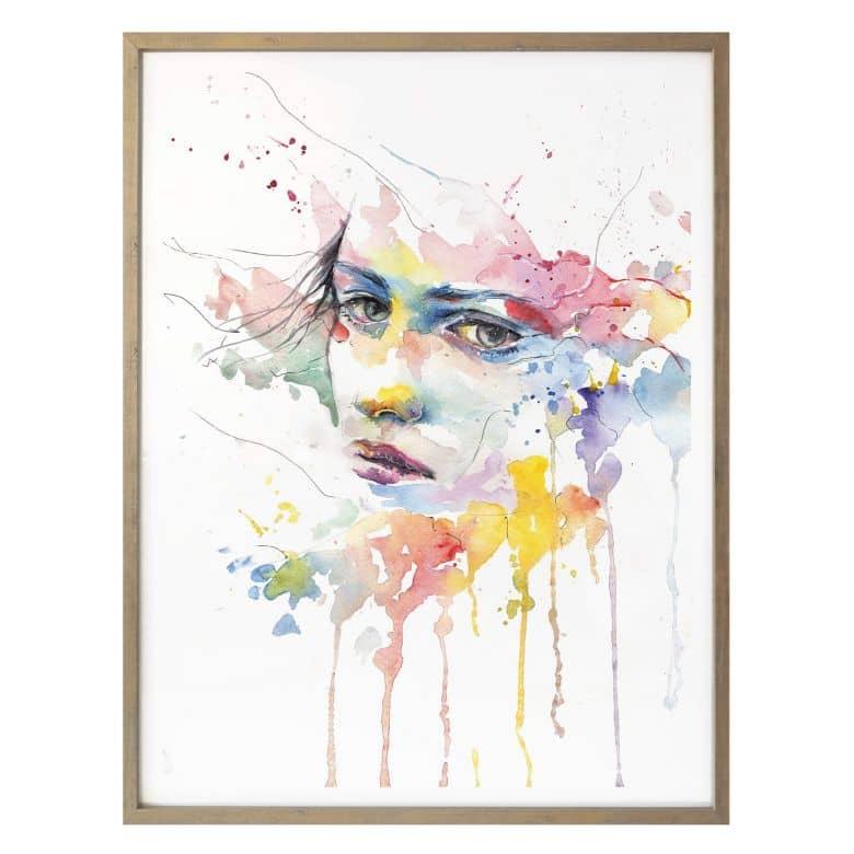 Poster Watercolour Face 02