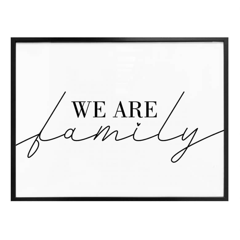 Poster - We are family