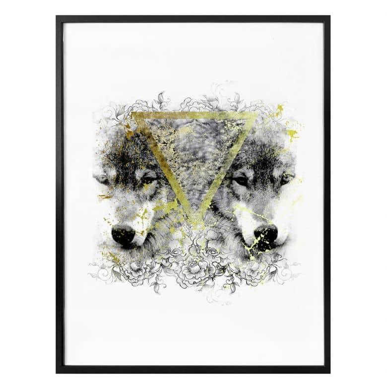 Poster Wölfe