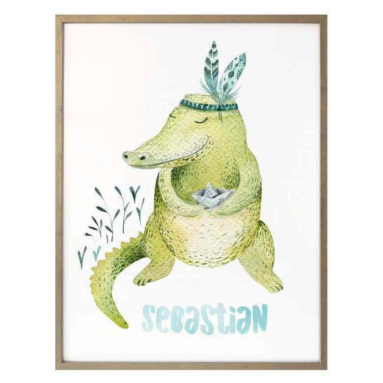 Poster Kvilis - Crocodile with name
