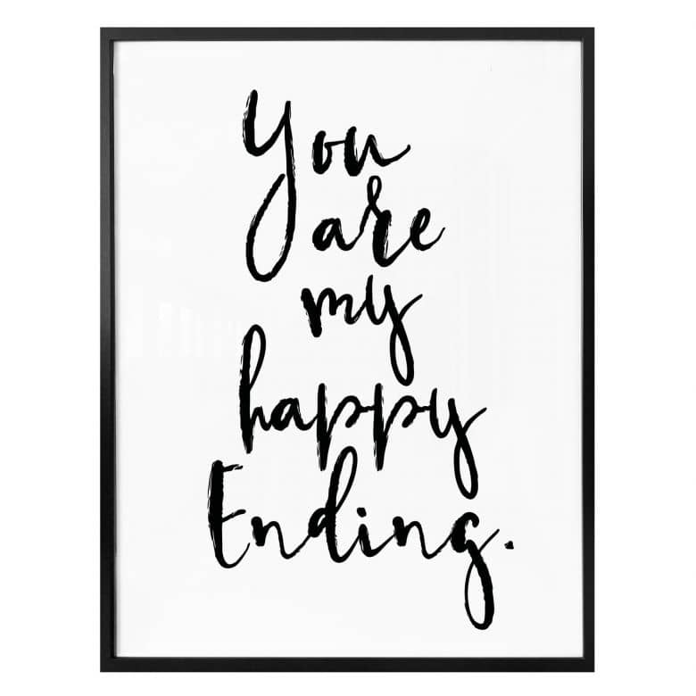 Poster You are my happy Ending