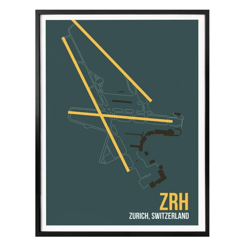 Poster 08Left - ZRH Grundriss Zürich