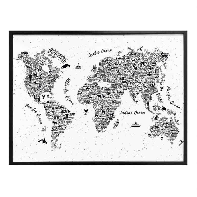 Poster Weltkarte - Around the world