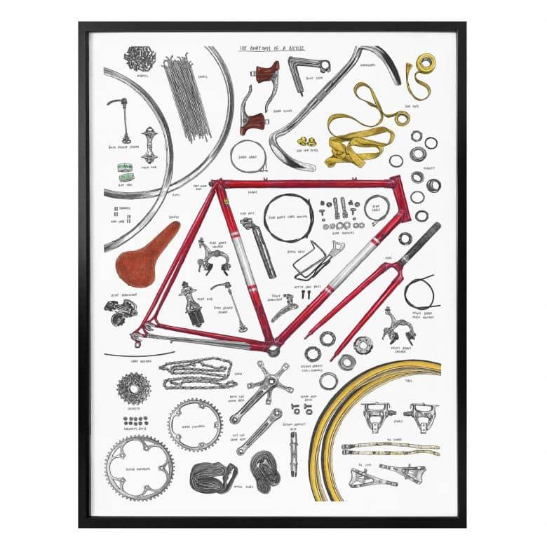 Poster Sparshott - Aufbau eines Fahrrads