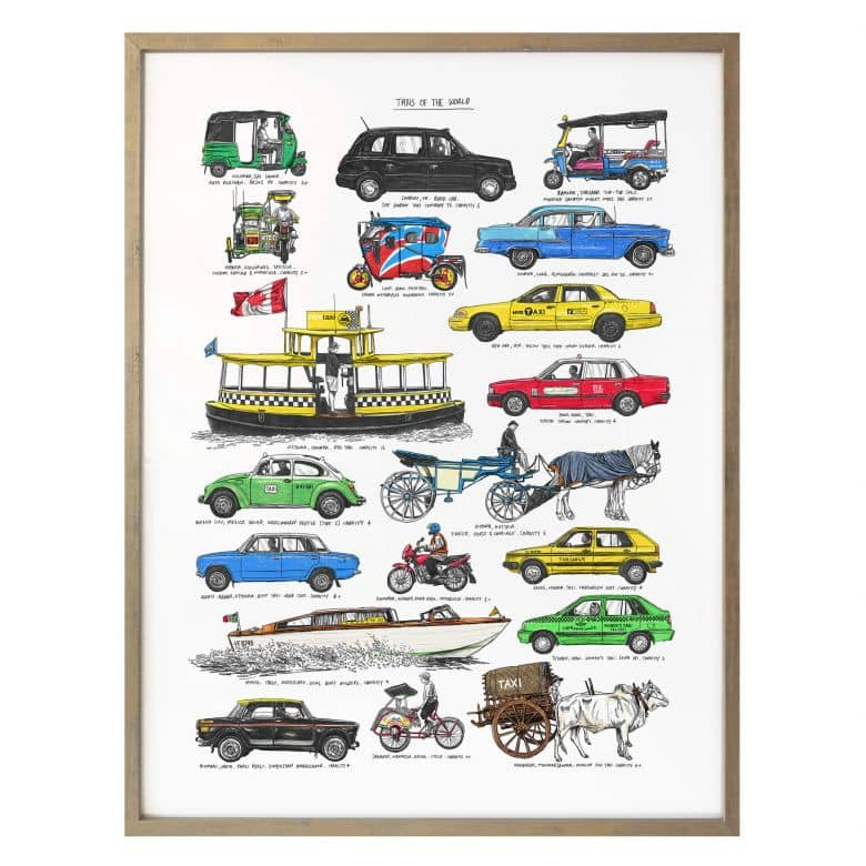 Poster Sparshott - Taxis of the world