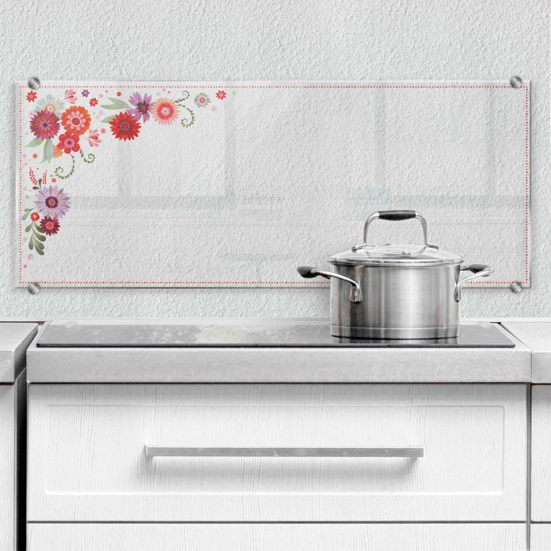 Spritzschutz transparent - Panorama - Blütentraum