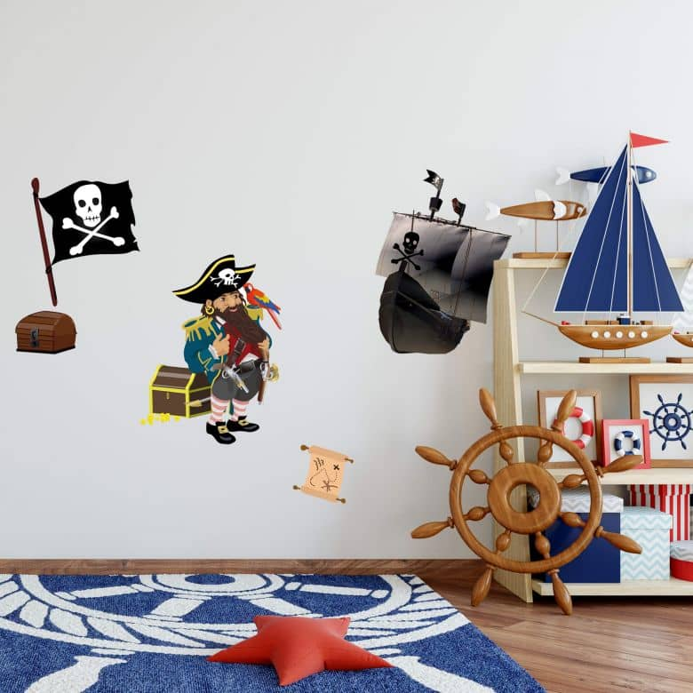 Muurstickers Piratenbundel