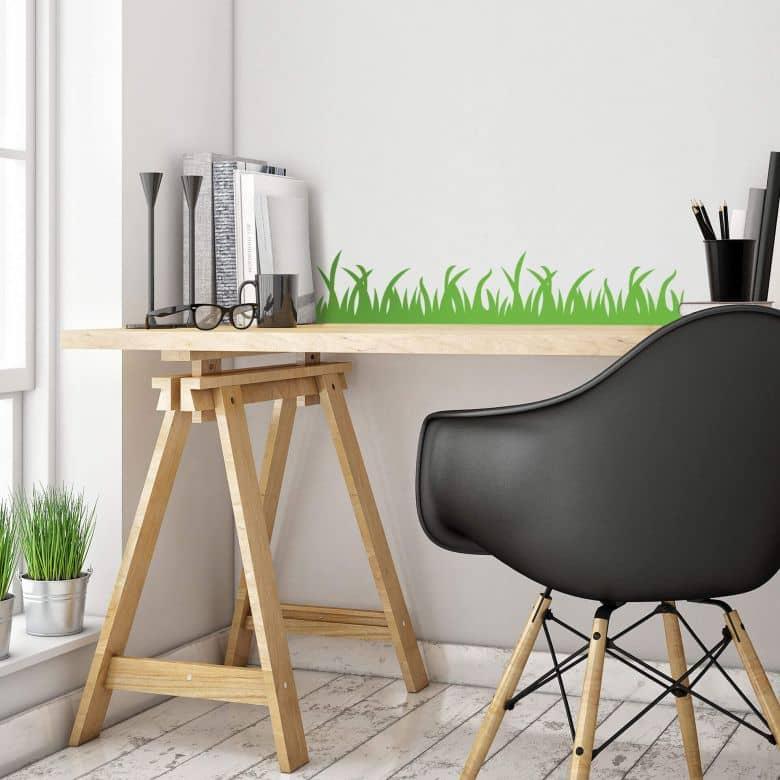 wandtattoo gras aufkleber f r bad k che kinderzimmer. Black Bedroom Furniture Sets. Home Design Ideas