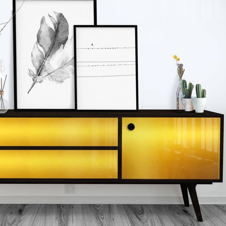 Fensterfolie Gold Polished - selbstklebend