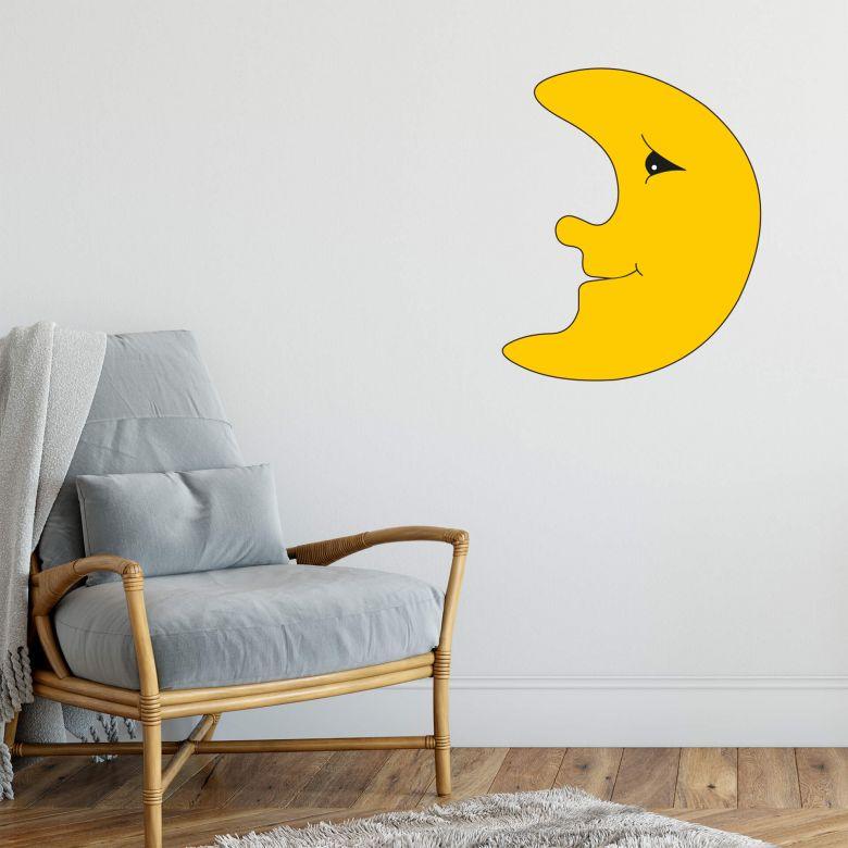 Sticker mural - Lune