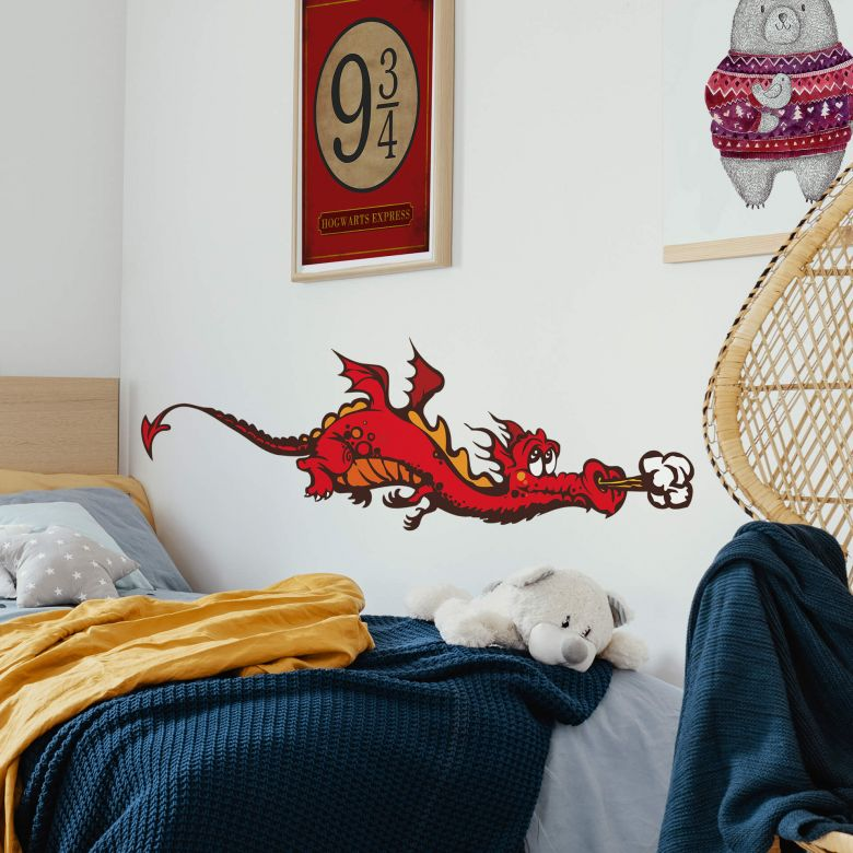 Sticker mural - Willi le Dragon - couleur