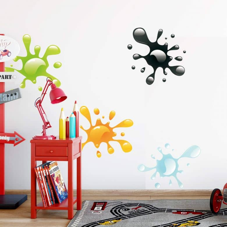 Splashes of Paint Wall sticker