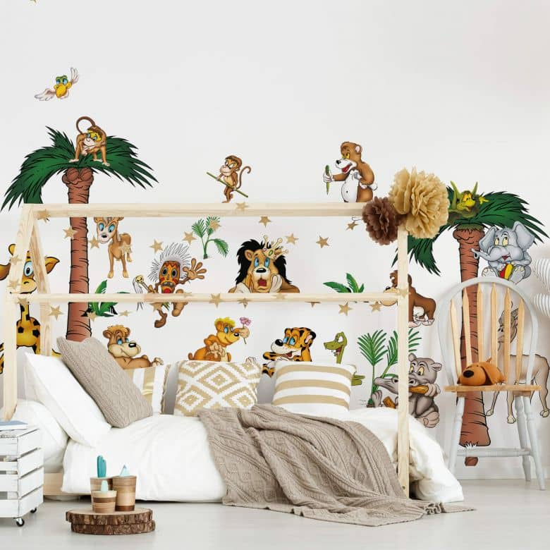 Wandsticker Crazy Jungle Kinderzimmer Deko Wall Art De