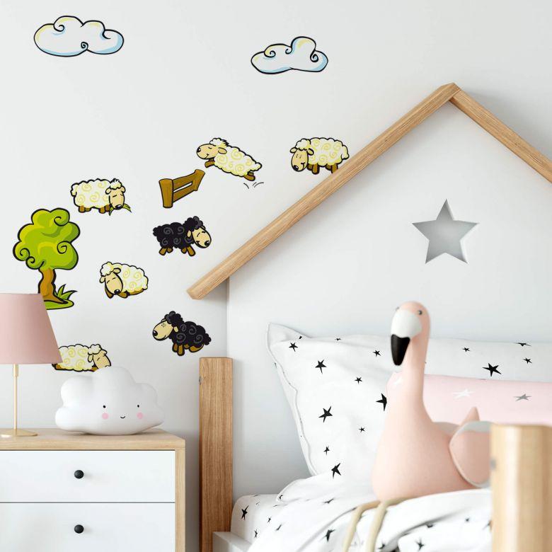 Sticker mural - Troupeau de Moutons