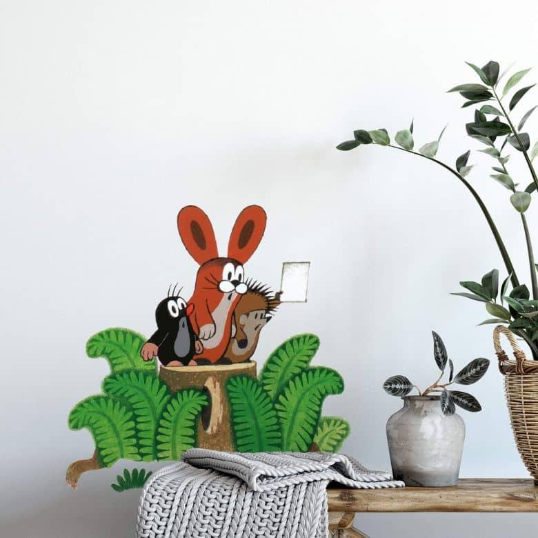 Wandtattoo Maulwurf Hase Igel - original