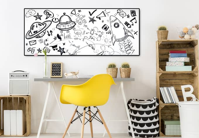 Folie Whiteboard - selbstklebend - 150x45 cm