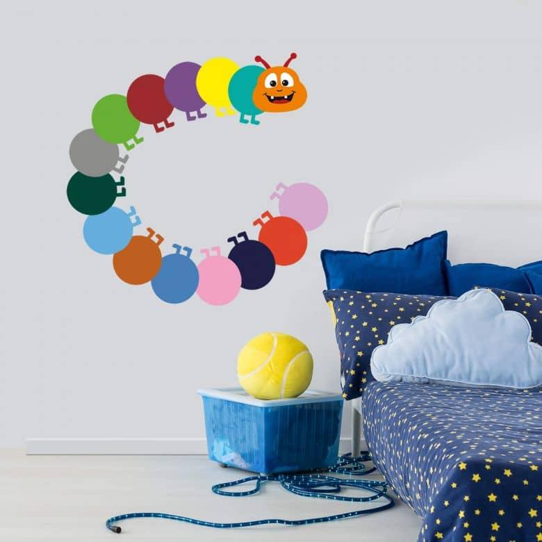 Sticker mural - Chenille Multicolore