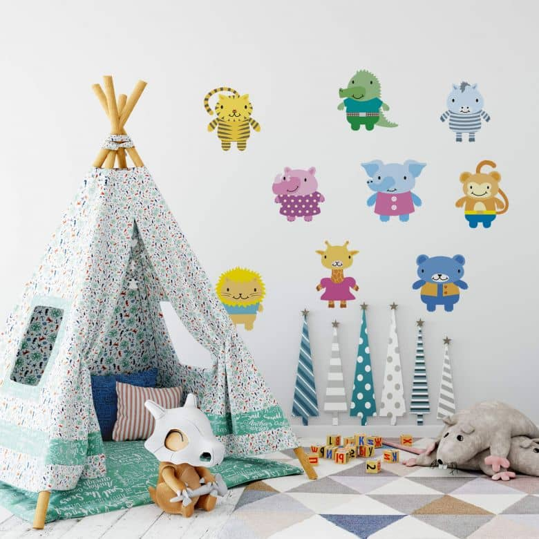 Sticker mural - Adorables Animaux