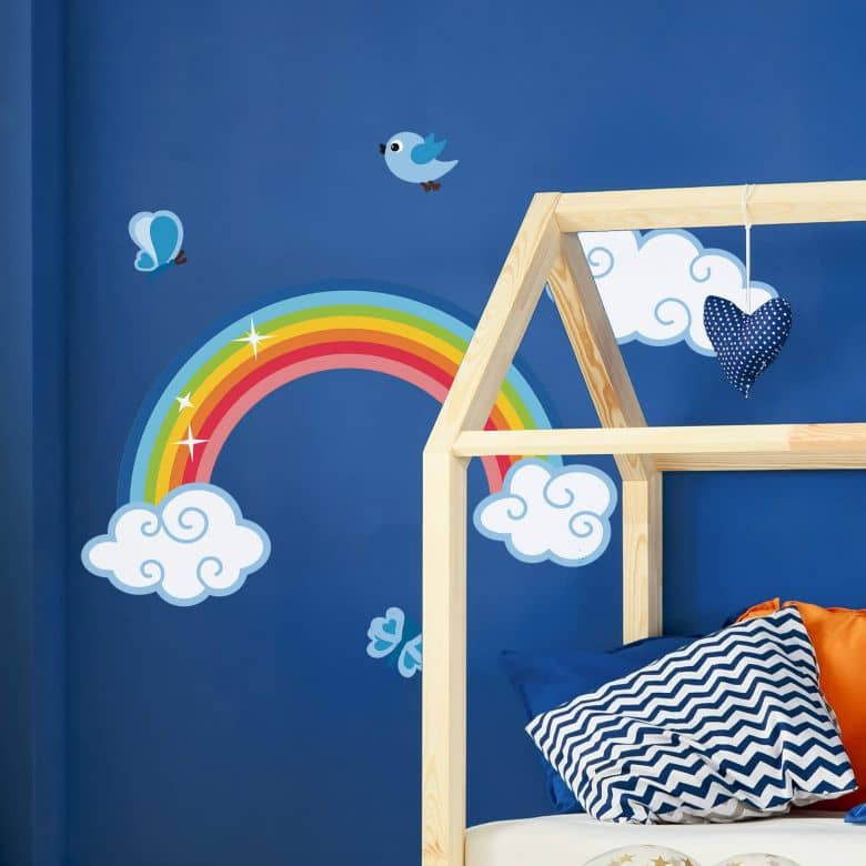Adesivo murale - Arcobaleno per maschietti