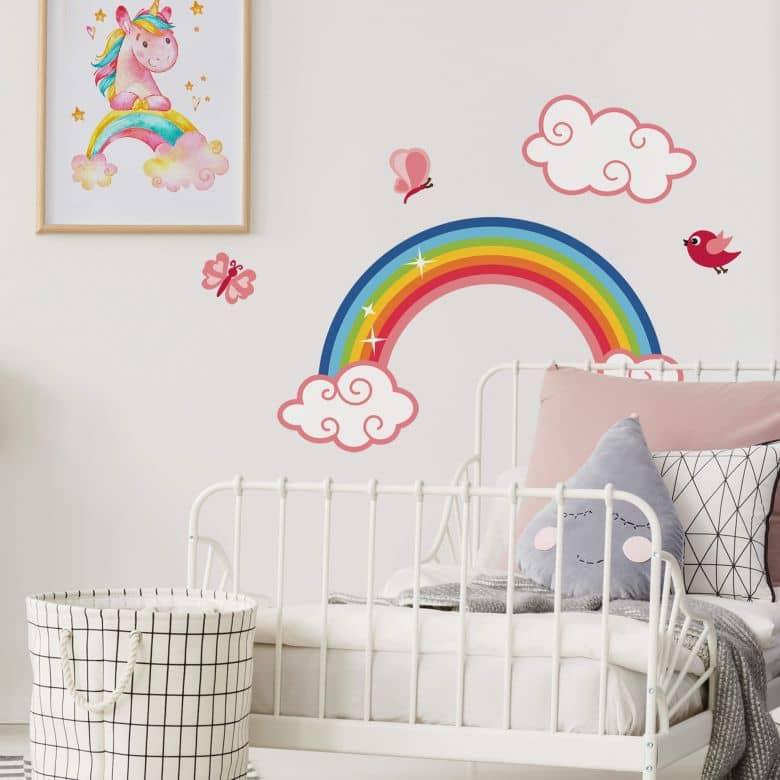 Sticker mural - Arc-en-ciel pour filles