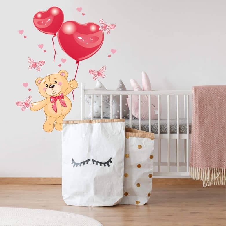 Bear with Balloons Wall sticker