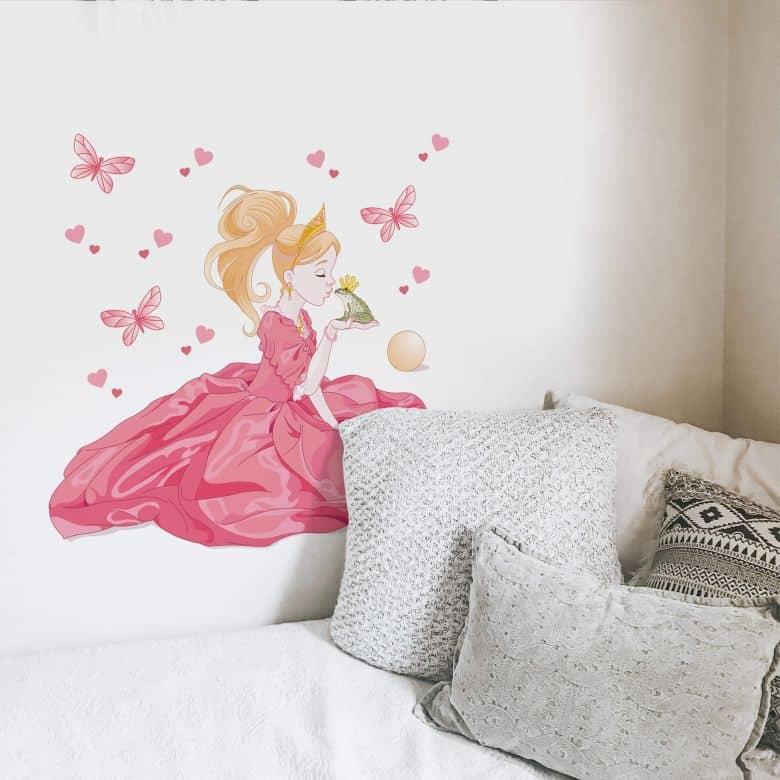 Sticker mural - La princesse et le roi grenouille