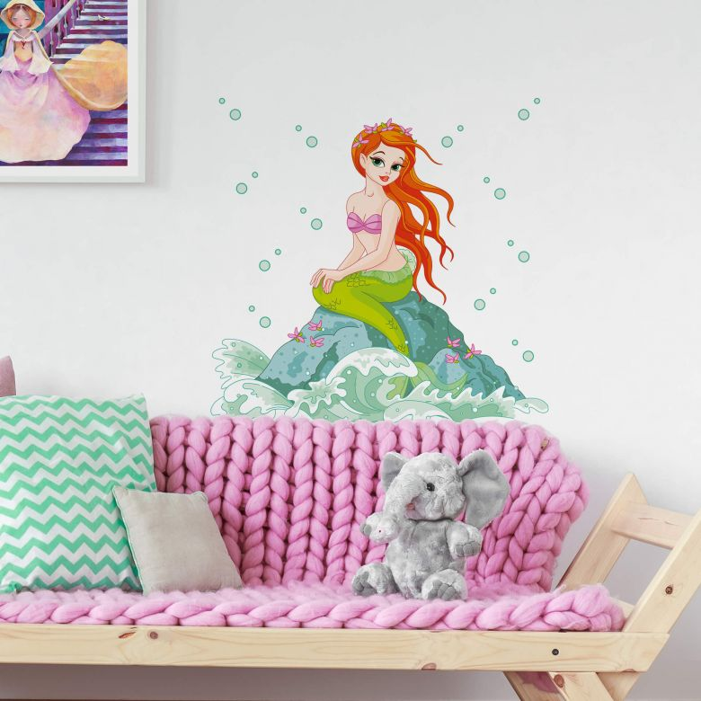 Sticker mural - Une petite sirène