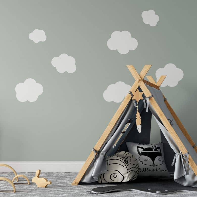 Wandtattoo Wolken-Set 2