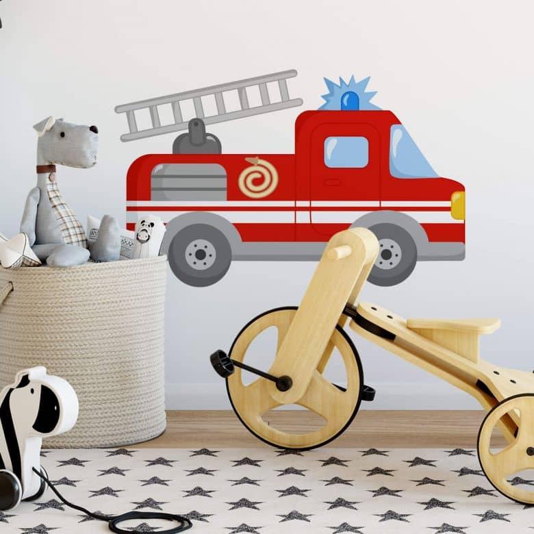 Sticker mural - Camion de pompier