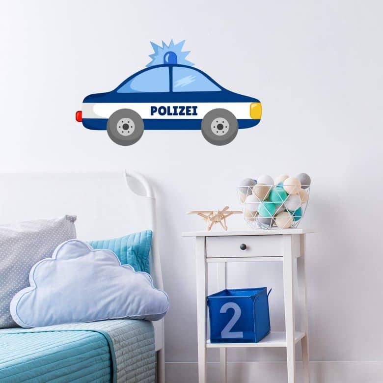 Wandtattoo Polizei Auto 02 Wall Art De