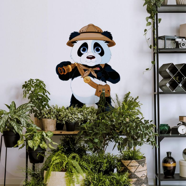 Panda on safari Wall sticker