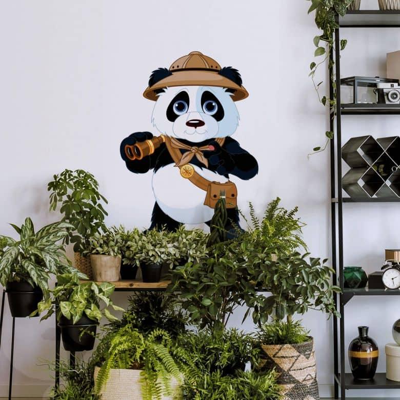 Sticker mural - Panda en safari