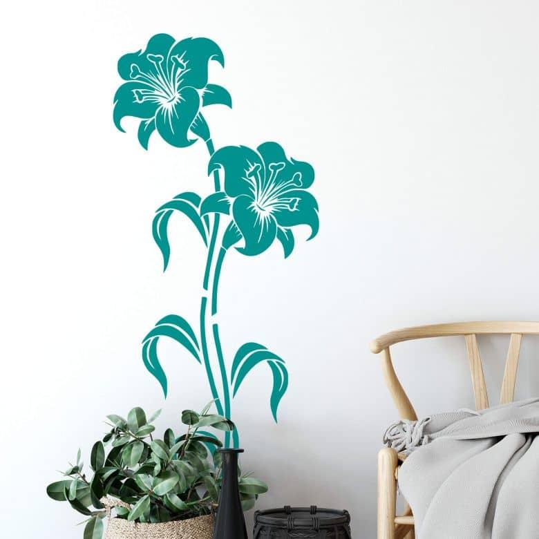 Sticker mural - Fleurs de Lys