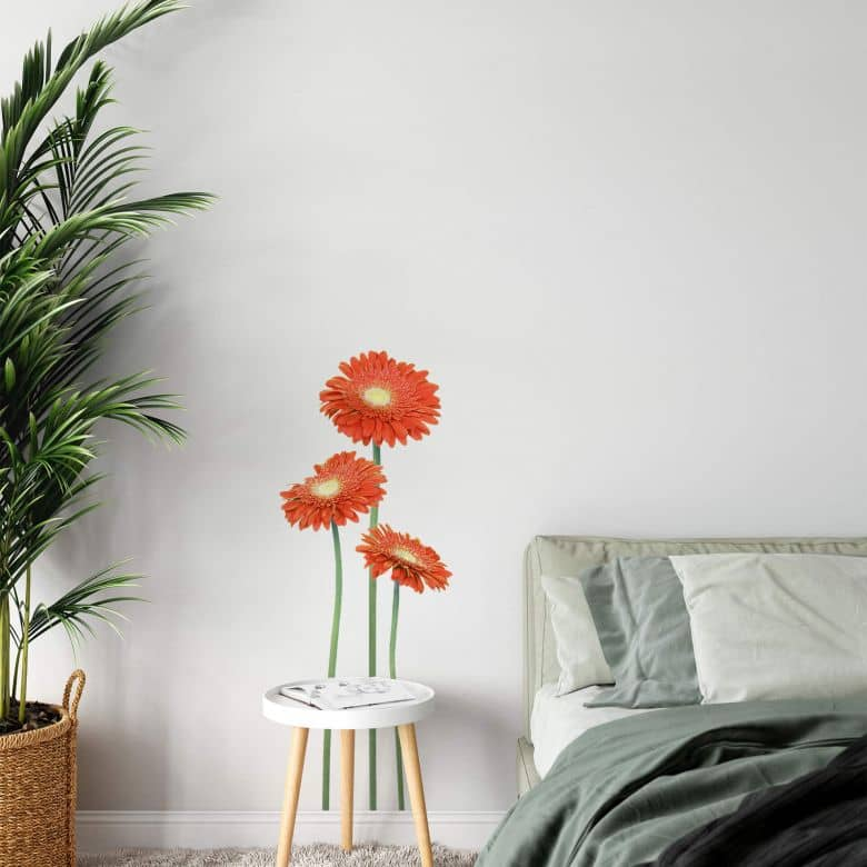 Gerbera Bundle Orange Wall sticker