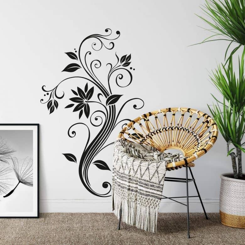 Sticker mural - Ornement Fleuri Abstrait
