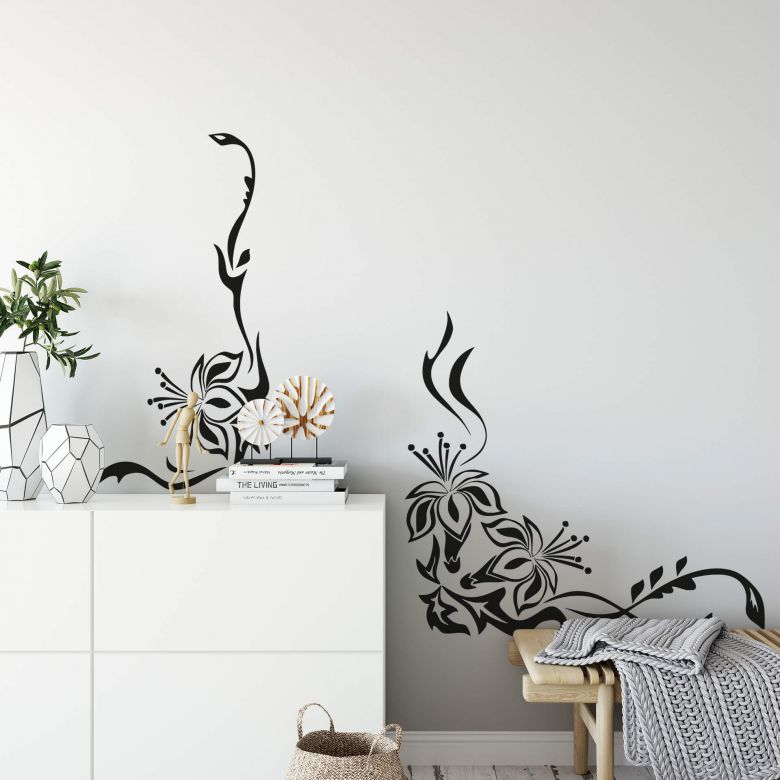 Flower Ornament Wall sticker