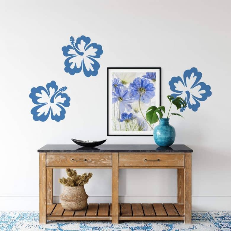 Sticker mural - Fleurs d'Hibiscus 50x50cm
