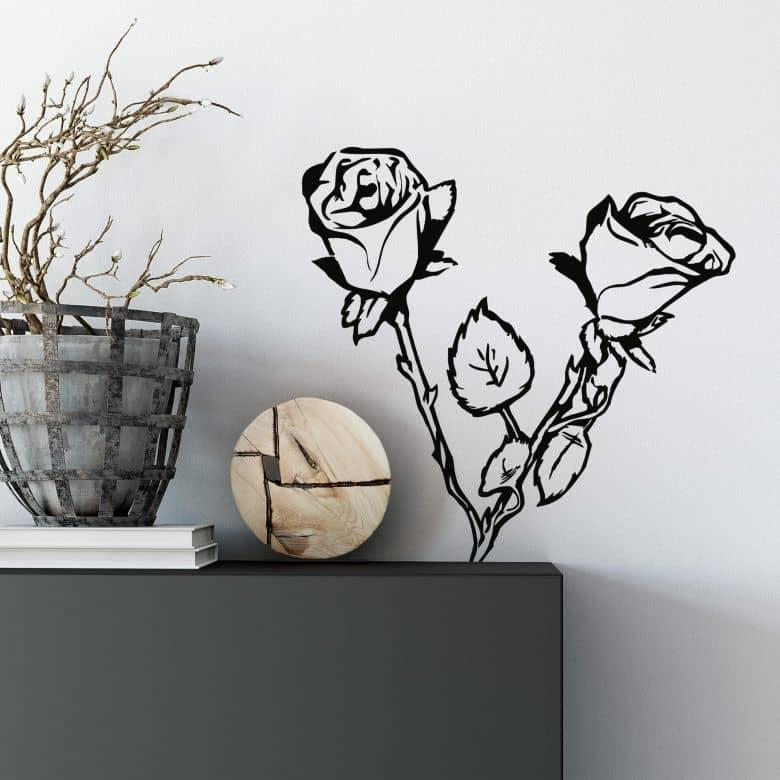 Sticker mural - Rosier
