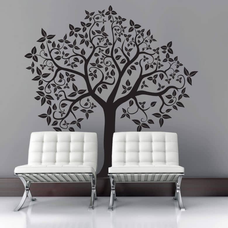 wandtattoo baum 2 bezaubernder baum als wandtattoo wall. Black Bedroom Furniture Sets. Home Design Ideas