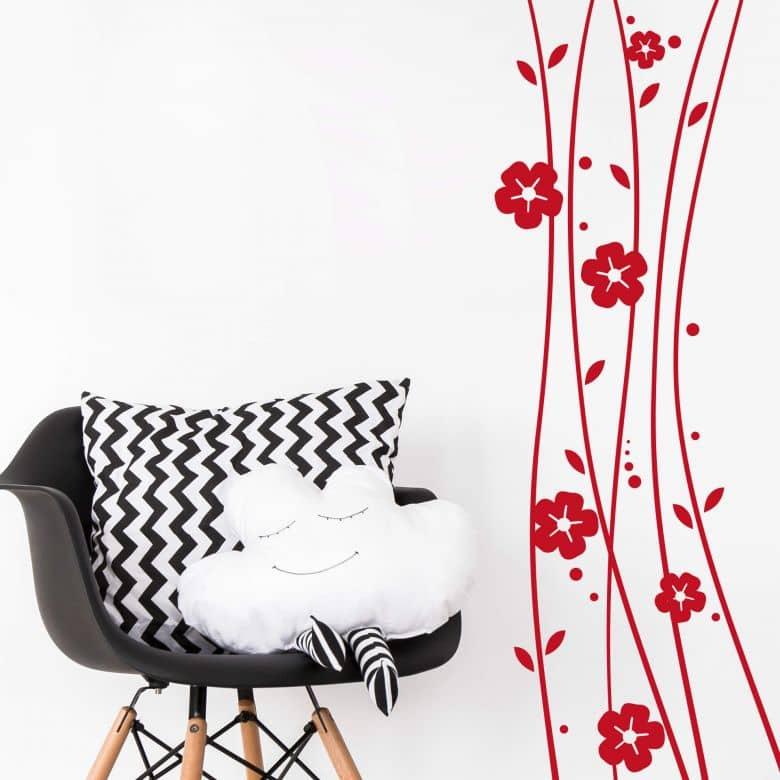 Sticker mural - Fleurs Grimpantes