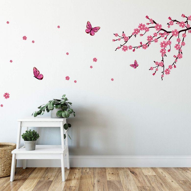 Cherry Blossoms & Butterflies Wall sticker