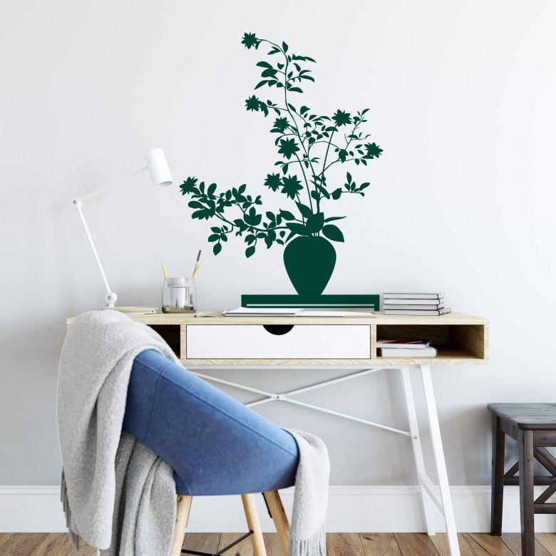 Sticker mural - Ikebana