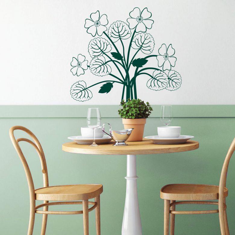 Sticker mural - Composition florale