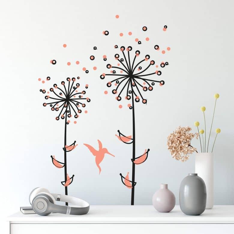 Adesivo murale - Soffione in tinta pesca