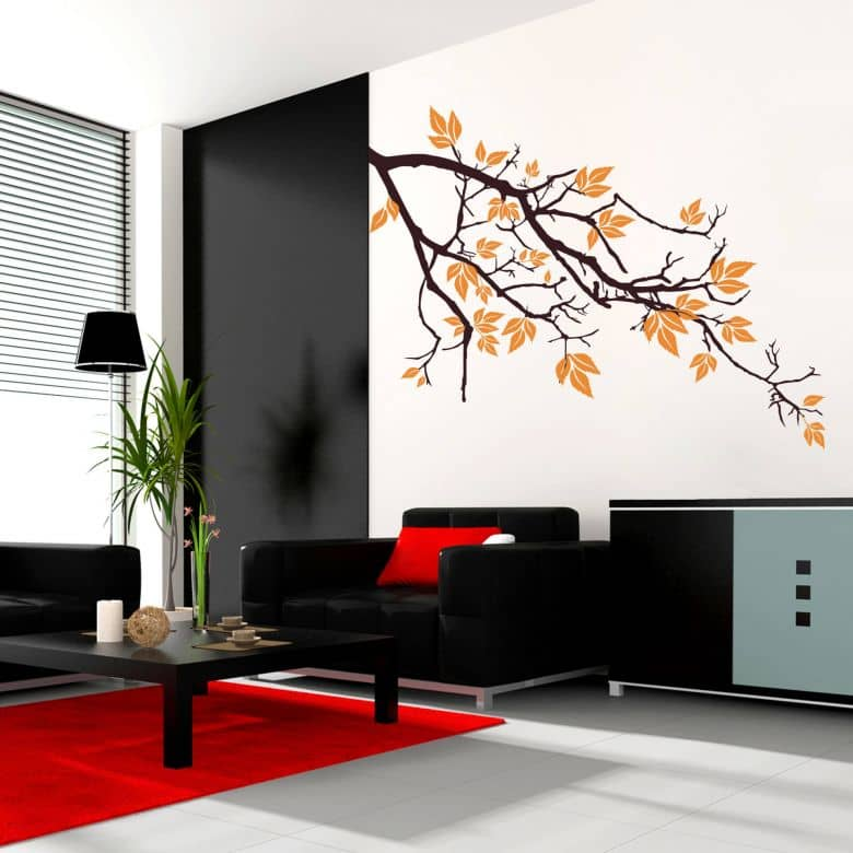 wandtattoo ast 2 in zwei verschiedenen farben von k l wall art wall. Black Bedroom Furniture Sets. Home Design Ideas